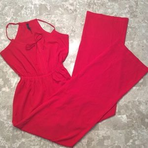 🎈SALE🎈Red Long Jumpsuit Palazzo